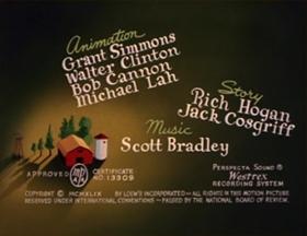 Screenshots from the 1949 MGM cartoon Little Rural Riding Hood