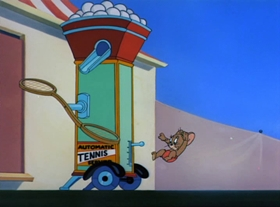 Screenshots from the 1949 MGM cartoon Tennis Chumps