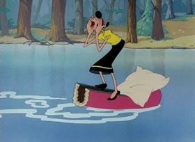 Screenshots from the 1949 Paramount / Famous Studios cartoon Lumber Jack and Jill