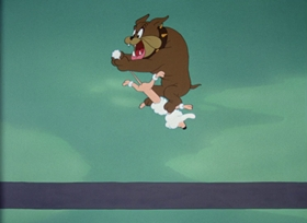 Screenshots from the 1949 Paramount / Famous Studios cartoon Barking Dogs Don