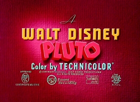 Screenshots from the 1949 Disney cartoon Pueblo Pluto
