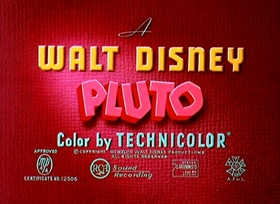 Screenshots from the 1949 Disney cartoon Pluto