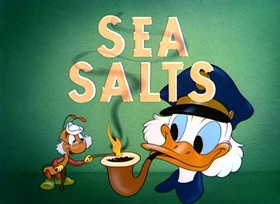 Screenshots from the 1949 Disney cartoon Sea Salts