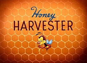 Screenshots from the 1949 Disney cartoon Honey Harvester