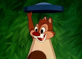 Screenshots from the 1949 Disney cartoon All in a Nutshell