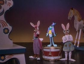 Screenshots from the 1949 Warner Bros. cartoon My Dream is Yours