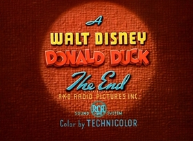 Screenshots from the 1949 Disney cartoon Slide, Donald, Slide