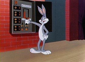 Screenshots from the 1949 Warner Brothers cartoon Hare Do
