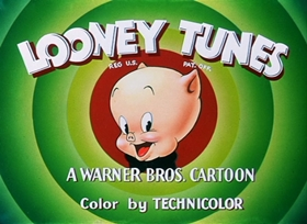 Screenshots from the 1949 Warner Brothers cartoon Porky Chops