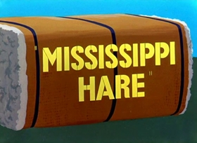 Screenshots from the 1949 Warner Brothers cartoon Mississippi Hare
