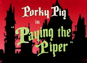 Screenshots from the 1949 Warner Brothers cartoon Paying the Piper