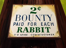 Screenshots from the 1949 Warner Brothers cartoon Rebel Rabbit