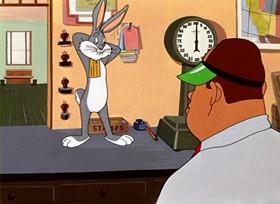 Screenshots from the 1949 Warner Bros. cartoon Rebel Rabbit