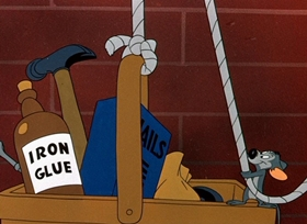 Screenshots from the 1949 Warner Brothers cartoon Mouse Wreckers