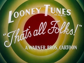 Screenshots from the 1949 Warner Brothers cartoon Curtain Razor