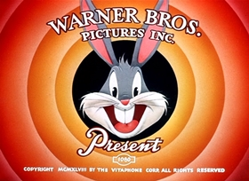 Screenshots from the 1949 Warner Brothers cartoon Long-Haired Hare