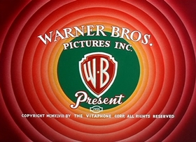 Screenshots from the 1949 Warner Brothers cartoon Fast and Furry-ous