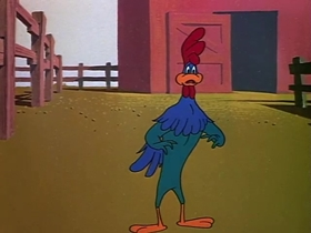Screenshots from the 1949 Warner Brothers cartoon Each Dawn I Crow