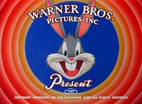 Screenshots from the 1949 Warner Brothers cartoon Frigid Hare