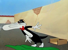 Screenshots from the 1949 Warner Brothers cartoon Swallow the Leader