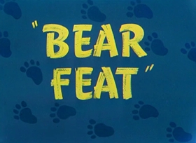 Screenshots from the 1949 Warner Brothers cartoon Bear Feat