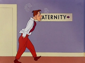Screenshots from the 1949 Warner Brothers cartoon So Much for So Little
