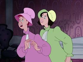 Screenshots from the 1950 Disney cartoon Cinderella