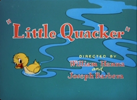 Screenshots from the 1950 MGM cartoon Little Quacker