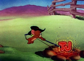 Screenshots from the 1950 MGM cartoon Texas Tom