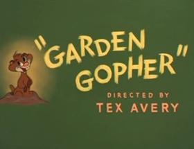 Screenshots from the 1950 MGM cartoon Garden Gopher