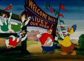 Screenshots from the 1950 Paramount / Famous Studios cartoon Quack a Doodle Do