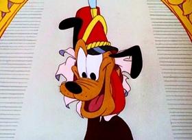 Screenshots from the 1950 Disney cartoon Wonder Dog
