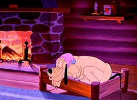 Screenshots from the 1950 Disney cartoon Primitive Pluto