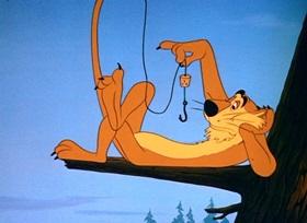 Screenshots from the 1950 Disney cartoon Hook, Lion and Sinker