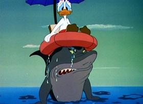 Screenshots from the 1950 Disney cartoon Bee at the Beach