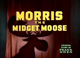 Screenshots from the 1950 Disney cartoon Morris, the Midget Moose