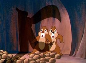Screenshots from the 1950 Disney cartoon Out on a Limb