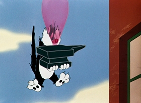 Screenshots from the 1950 Warner Brothers cartoon Home Tweet Home
