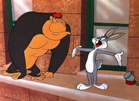 Screenshots from the 1950 Warner Bros. cartoon Hurdy Gurdy Hare
