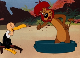 Screenshots from the 1950 Warner Brothers cartoon The Lion