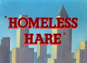 Screenshots from the 1950 Warner Brothers cartoon Homeless Hare