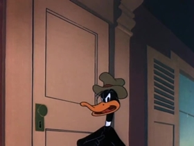 Screenshots from the 1950 Warner Brothers cartoon His Bitter Half