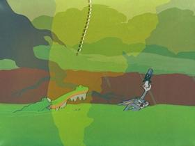 Screenshots from the 1950 Warner Brothers cartoon 8 Ball Bunny