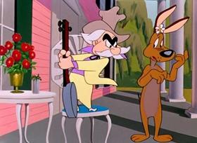 Screenshots from the 1950 Warner Bros. cartoon Dog Gone South