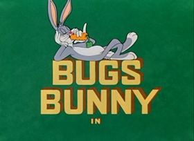 Screenshots from the 1950 Warner Brothers cartoon Bushy Hare