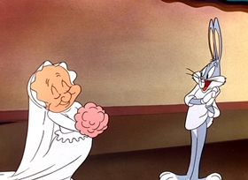 Screenshots from the 1950 Warner Brothers cartoon Rabbit of Seville