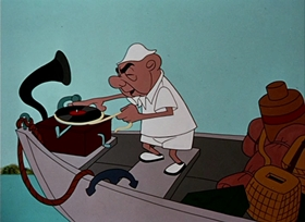 Screenshots from the 1950 UPA cartoon Spellbound Hound