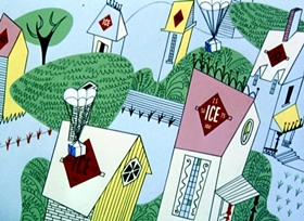 Screenshots from the 1950 UPA cartoon Giddyap