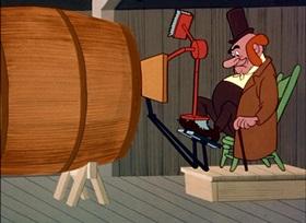 Screenshots from the 1950 UPA cartoon The Popcorn Story