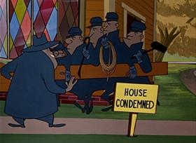 Screenshots from the 1950 UPA cartoon Bungled Bungalow